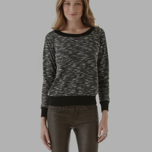 Aritzia Talula Black and White Knit Sweater XS